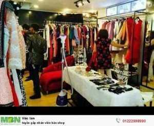 Tuyển gấp nhân viên bán shop  vui vẻ, lương cao không yêu cầu kinh nghiệm
