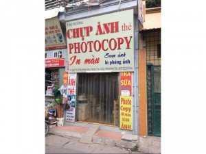 Photocopy, chụp ảnh thẻ giá sinh viên