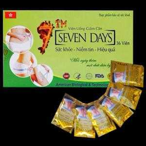 VIÊN UỐNG GIẢM CÂN SEVEN DAYS có nguồn gốc từ thảo dược thiên nhiên, hoàn toàn an toàn cho người sử dụng.