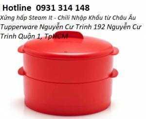Xửng hấp Steam It - Chili -  Chất liệu chịu nhiệt cực cao tới 180 độ C giúp an toàn trong quá trình hấp -Xửng hấpTupperware Nguyễn Cư Trinh- hàng nhập