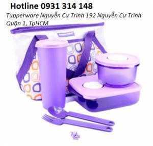 Hộp đựng cơm cho dân văn phòng, mang thức ăn theo Bộ hộp cơm Cosmo Violet có thể dùng trong lò vi sóng Chất liệu nhựa số 7 đẹp và sang trọng