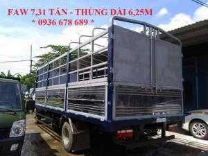 Xe tải faw 7,31 tấn thùng dài 6m25 | faw 7.31 tấn | faw 7t31 (faw 7 tấn 31)