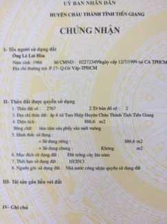 Bán Đất  trồng cây lâu năm 886m2 mặt tiền rộng 36m  ở Tiền Giang