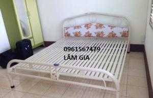Giường sắt giá mềm 1m6x2m , GSDP-16