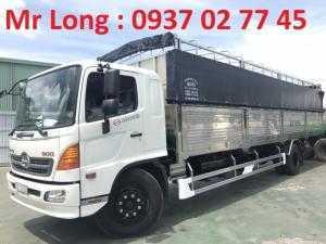 HINO FG8JPSL mui phủ , xe tải mui bạt 8 tấn hino FG , xe tải 8 tấn HINO thùng dài , HINO 8 tấn thùng dài.