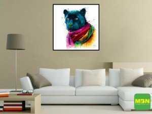 Tranh Trang Trí Treo Tường Rainbow Black Panther Kích Thước 30x30 cm