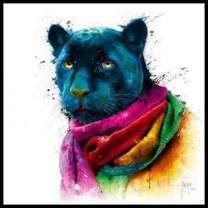 Tranh Treo Tường Rainbow Black Panther Kích Thước 30x30 cm  - MSN1831076