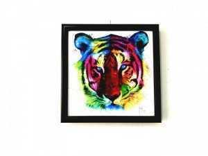 Tranh Treo Tường Rainbow Tiger Kích Thước 30x30 cm  - MSN1831074