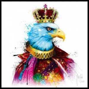 Tranh Treo Tường Rainbow King Eagle Kích Thước 30x30 cm  - MSN1831075