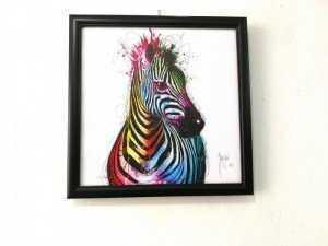 Tranh Treo Tường Rainbow Zebra Kích Thước 30x30 cm - MSN1831077