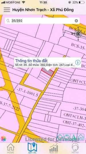 Lô đất xã Phú Đông, 247m2, 10x25m