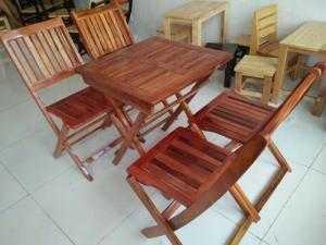 Ghế gỗ quán nhậu 112