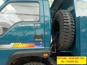 Xe Ben Thaco Forland600C tải trọng  6T(4,9 khối) chất lượng cao,uy tín( Nhà Bè, Cần Giờ,Củ Chi, Long An...)