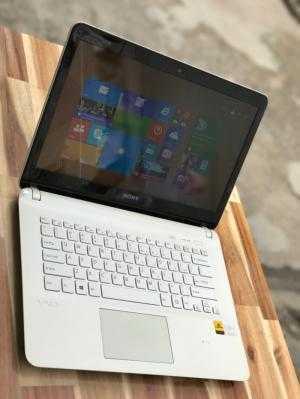 Laptop Sony Vaio SVF14, Pentium 2117U 2G 320G màu trắng mỏng rẻ
