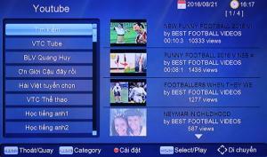 Đầu thu truyền hình số mặt đất & internet DVBT2-VN01