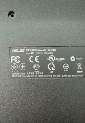 Cặp bản lề laptop Asus F451C tháo máy