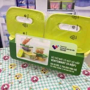 Tupperware Hộp bảo quảnthực phẩm Bộ hộp trữ mát Vensmart (4 hộp) Chuyên dùng lưu trữ  rau củ quả tươi trong ngăn mát,chất liệu nhựa nguyên sinh không chứa BPA, an toàn đựng thực phẩm,hộp đựng thức ăn