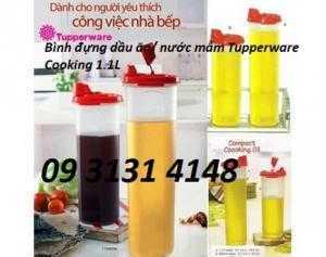Tupperware Bình đựng dầu ăn/ nước mắm Tupperware Cooking 1.1L