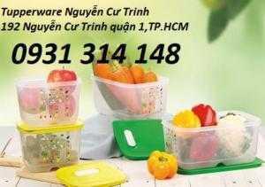 Tupperware Hộp bảo quản rau củ quả   Vensmart chuyên dùng cho ngăn mát ( bộ 4 hộp)