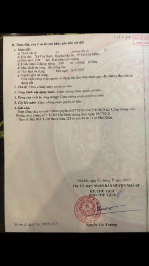 Bán lô đất thổ cư 200m cực đẹp Huỳnh Tấn Phát, Nhà Bè