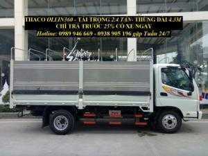 Thaco Ollin 360 2.2 tấn, thùng dài cùng với nội thất sang trọng