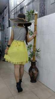 Đầm ren Korea vàng quá dễ thương