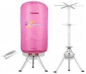 Máy sấy quần áo TIROSS TS881 (Có điều khiển) - Dạng : Cây sấy tròn. - Công suất: 900W - Điện áp: 220V - 50Hz - Màu sắc: Hồng / Xánh - Trọng lượng sấy: 10kg - Điều khiển từ xa: Có - Hẹn giờ: Có