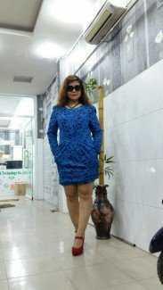 Đầm bông co  gen  co giãn của KOREA