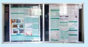 Bảng Ghim Hộp Có Cửa Kính Lùa KT 800x1200