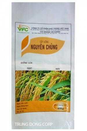 Bao PP dệt đựng lúa giống,bao bì lúa giống 25kg,40kg.