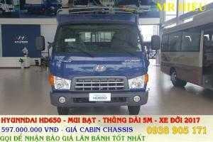 xe tai thaco huyndai HD650 ,xe tai thung lung, mui bat ,HD650