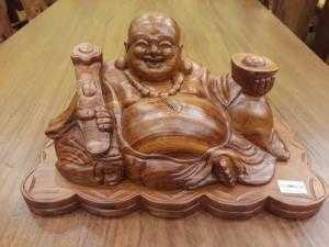 Di lặc gỗ hương cầm thỏi vàng 40 - DL1601 - Đồ Gỗ Sơn Đông