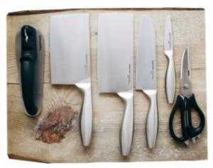 Tupperware bộ dao  PRO ASIAN SERIES Chất liệu thép không gỉ chuyên dụng cao cấp