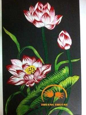 Tranh hoa sen HandMade cực đẹp