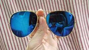 Mắt kính tráng gương thời trang nam nữ - Màu Xanh