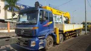 Xe cẩu 10 tấn Thaco - xe 4 chân gắn cẩu