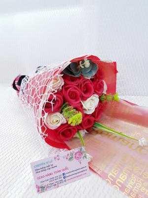 Bó hoa hồng sáp thơm 19 bông cao cấp - Qùa tặng valentine