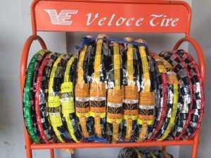Lốp sau Sirius có ruột hiệu Veloce