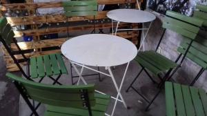 Thanh lý gấp 10 bộ bàn ghế cafe xếp siêu xinh