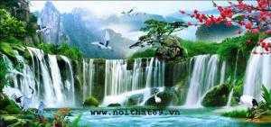 Tranh phong thủy sông nước