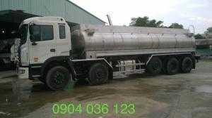 Giá  xe bồn chở dầu ăn bồn inox 304, giá xe bồn chở dầu ăn inox 304, bồn inox 304 chở dầu ăn 21m3