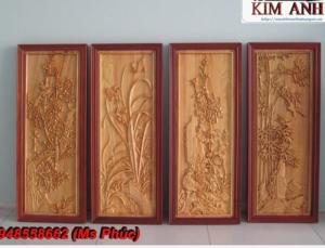 Nhận đục đồ gỗ mỹ nghệ | tranh tứ quý giá rẻ - Nội thất Kim Anh sài gòn