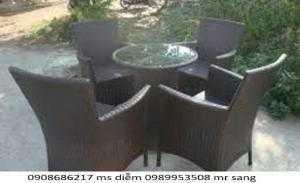 Bàn ghế cafe sân vườn hgh0039