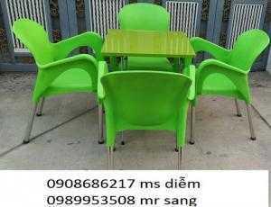 Bàn ghế nhựa cafe hgh0042