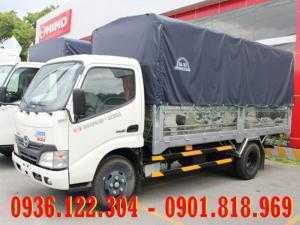 Xe tải HINO 1T9 thùng mui bạt XZU650L