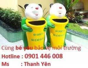 Thùng rác hình con gấu  - Chất Liêu: Composite - Kích thước:550x1100 mm ±20mm - Hàng Việt Nam mới 100% Bảo hành 12 tháng