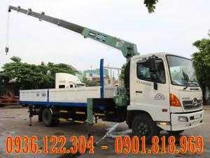 Xe tải HINO 6 Tấn FC9JLSW gắn cẩu Unic376 3 tấn 6 khúc