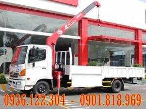 Xe tải HINO 6 Tấn FC9JLSW gắn cẩu Unic343 3 tấn 3 khúc
