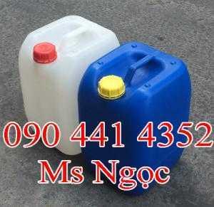 Can axít 20 lít, can 25 lít đựng dung dịch hóa chất. Sản xuất thùng nhựa 30 lít mới tpHCM