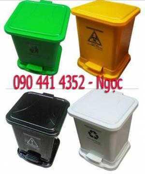 Thùng đựng rác y tế trong bệnh viện 20 lít, thùng rác 15 lít , thùng đựng rác nhựa HDPE 15 lít, thùng rác nhựa 20 lít có chân đạp